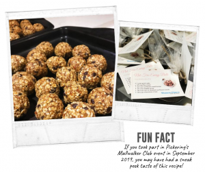 Nut-Free Energy Balls Behind The Scenes